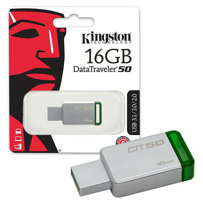 Kingston Data Traveler  16GB USB 3.0 Flash Drive Pen Memory Stick New