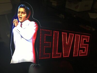Rare Elvis Slot Machine Topper Pinball Game Room Elvis Lives Check Out Video