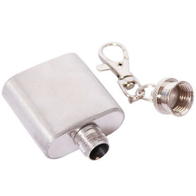 Steel Outdoor Drinkware Wine Bottle Whisky Flagon Hip Flask With  Key Chain