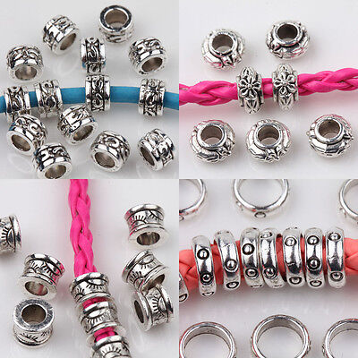 15/20/25Pcs Tibetan Silver Carved Loose Spacer Bead DIY Jewelry Making 5/6/8mm