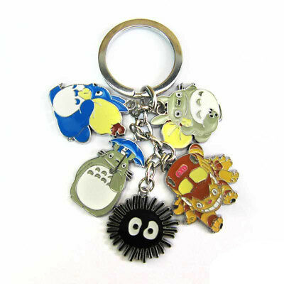 Studio Ghibli My Neighbor Totoro Metal Bus Dust Metal Pendant Keychain Keyring