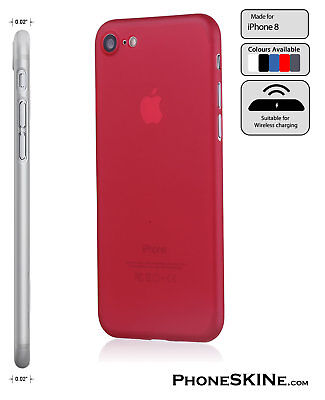 """iPhone 8 RED Apple PhoneSKINe iPhone Case 0.02"""" Ultra thin perfect fit"""