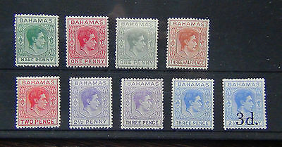 Bahamas 1938-52 values to 3d 1940 3d on 2.5d MM