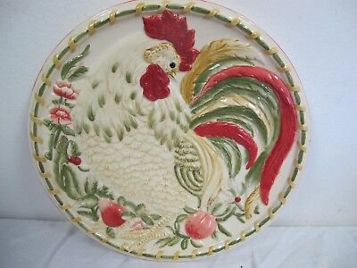 Royal Doulton Rooster Plate Chanticlair Embossed 8 3/4""
