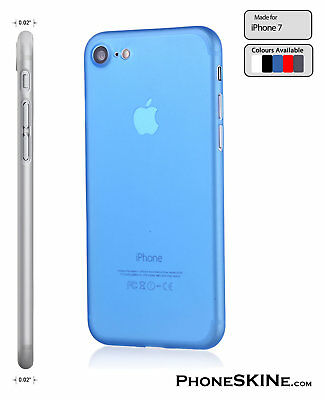 """iPhone 7 BLUE Apple PhoneSKINe iPhone hard case 0.02"""" Ultra thin perfect fit"""