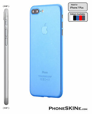 """iPhone 7 Plus BLUE Apple PhoneSKINe 0.02"""" Ultra thin Case perfect fit Silicone"""