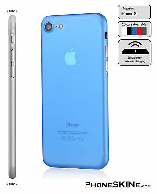 """iPhone 8 BLUE Apple PhoneSKINe iPhone hard case 0.02"""" Ultra thin perfect fit"""