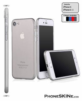 """iPhone 6 / 6s GREY Apple PhoneSKINe 0.02"""" Ultra thin Case perfect fit Silicone"""