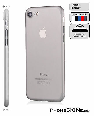 """iPhone 8 GREY Apple PhoneSKINe iPhone hard case 0.02"""" Ultra thin perfect fit"""