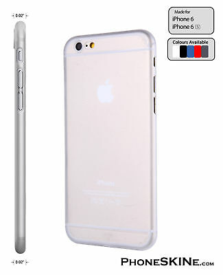 """iPhone 6 / 6s CLEAR Apple PhoneSKINe 0.02"""" Ultra thin Case perfect fit Silicone"""