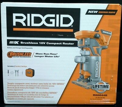 Ridgid R86044B 18-Volt Brushless Compact Router New