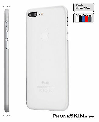 """iPhone 7 Plus CLEAR Apple PhoneSKINe 0.02"""" Ultra thin Case perfect fit Silicone"""