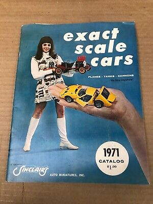 Vintage Original 1971 Exact Scale Cars Catalog