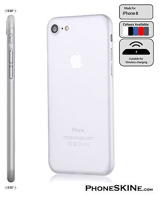 """iPhone 8 CLEAR Apple PhoneSKINe iPhone Case 0.02"""" Ultra thin perfect fit"""