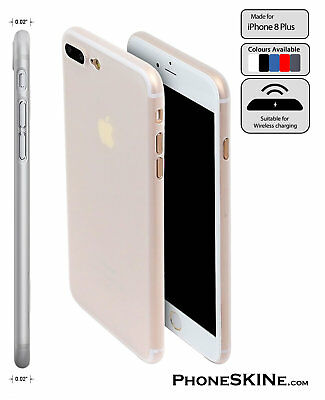 """iPhone 8 Plus CLEAR Apple PhoneSKINe iPhone Case 0.02"""" Ultra thin perfect fit 8+"""