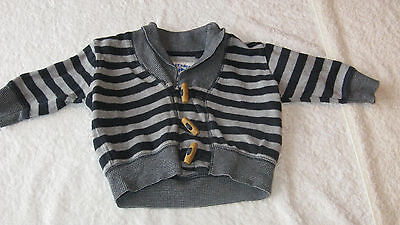 CARDIGAN Next 3-6 months STRIPEY NAUTICAL Navy Grey Spring Holiday Autumn Boy
