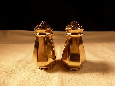Rare Antique Gorham Vermeil Gold Gilded Sterling Silver Salt & Pepper Shakers