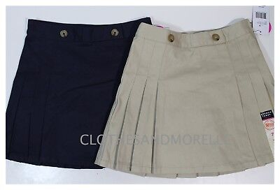 French Toast Pleated Skirt/skort Nwt School Uniform Navy Or Khaki Sizes 7/8/12