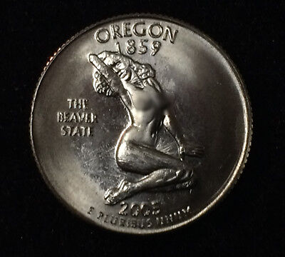 "Oregon 2005 Parody Quarter ""The Beaver State"" *FUNNY*"
