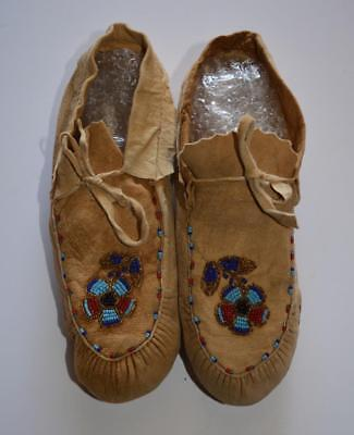 Vintage  Native American Beaded Moccasins ~Women's 8 ~ Nice