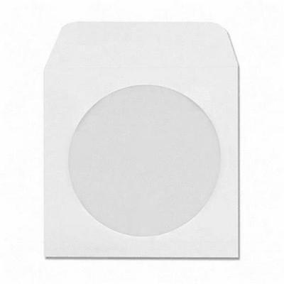 CD DVD Case Paper White Cover x 10 Envelope Flap Sleeve Clear w/ window Lot of
