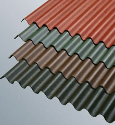 Corrugated Bitumen Roof Sheets, Garage Roofs, Sheds and Barns Choose your Colour