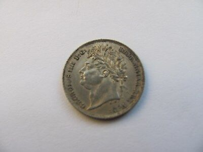 Sixpence George 4th IIII Fourth  1825 Silver
