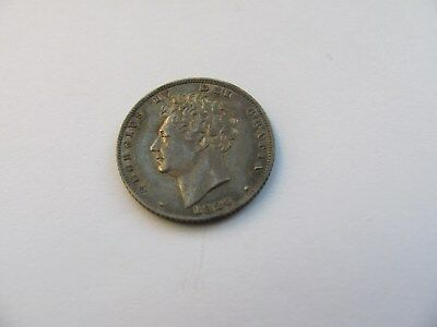 Sixpence George 4th IIII Fourth  1826 Silver