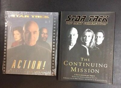 Star Trek Hc Continuing Mission Captains Picard Sisko Janeway Action! Book Lot