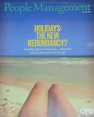 *new* People Management Hr Magazine Oct 2015 Rethinking Redundancy Wellbeing