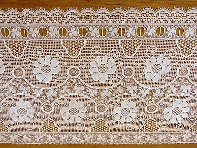 "Antique Lace Trim Insertion Ribbon Edging Flowers Clover 20"" x 10"" sewing crafts"