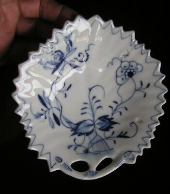 Hand Painted Blue Onion Dish Tray with Handles
