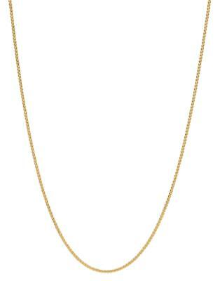 14k Yellow Gold Basket Rope Round Wheat Link Chain Necklace 1.2mm 18 3grm RW030