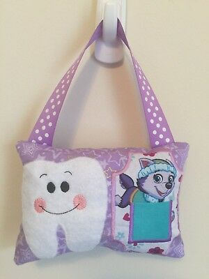 New Purple Rescue Pup TOOTH FAIRY PILLOW - Birthday or Shower Gift BBCB Bedroom