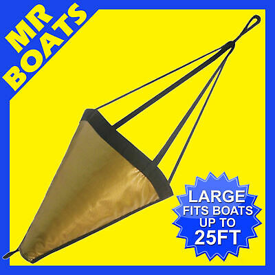 SEA ANCHOR - LARGE - Suits < 7m - 25FT BOAT H/DUTY PVC DRIFTING BRAKE FREE POST
