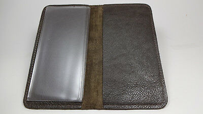 Bay State Exclusive Chocolate Genuine Leather Standard Checkbook Cover-USA Made