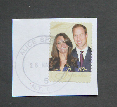 Alice Springs NT postmark on piece 2011 Prince William Kate Middleton Wedding