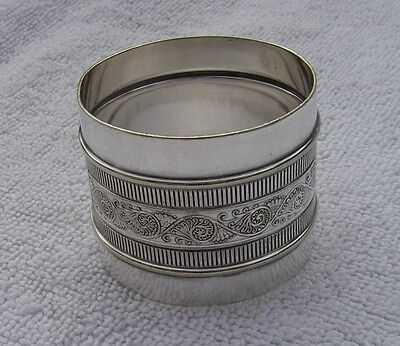 Early GORHAM Silverplate AESTHETIC PAISLEY Pattern NAPKIN RING-Date 1879