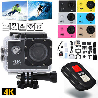 Ultra 4K WiFi 1080P Ultra HD Sport Action Camera DVR Helmet Camcorder as Go Pro
