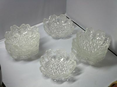 Eight Clear EAPG Hobbs Brockunier Daisy & Button #101 Berry Bowls