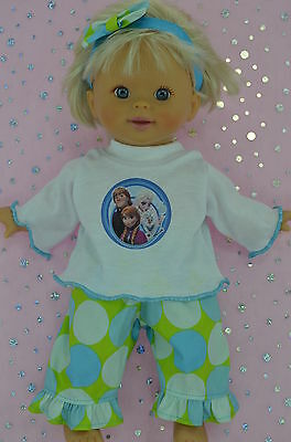 "Play n Wear Doll Clothes For 13"" Little Mommy/Baby Born  SPOT PANTS~TOP~HEADBAND"