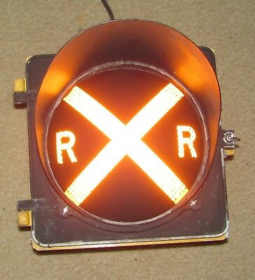 "8"" RAILROAD CROSSING Traffic Signal Light Yellow lens cap visor (A)"