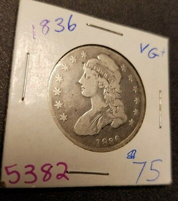 1836 Capped Bust Half Dollar 5382