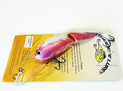 Timber Mudeye Lure Mohawk jointed Cod Lure 170mm col;New Pink Silver