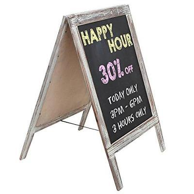 Freestanding Country Rustic Style Message Memo Chalkboard Sign / Sidewalk