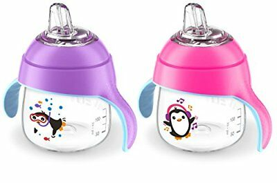 Philips Avent My Little Sippy Cup, Pink/Purple, 7oz, 2 piece