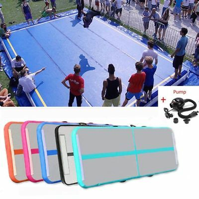 Air Track Home Floor Gymnastics Tumbling Mat Inflatable Tumbling Track GYM #K