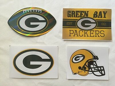 NFL Green Bay Packers Sticker Package Logo Helmet Football Vintage Stickers NEW