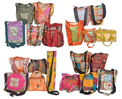 6c9cc594ad 5 BOHO BAGS Wholesale Lot Indian Gypsy Sequins Handmade India 746 ...
