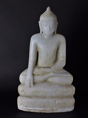 Antique Stunning Large Burmese Alabaster Shan Buddha 17th. or 18th. Century